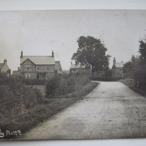 Bleasby with Reading Room, The Gables, Forge and Cottages c 1905