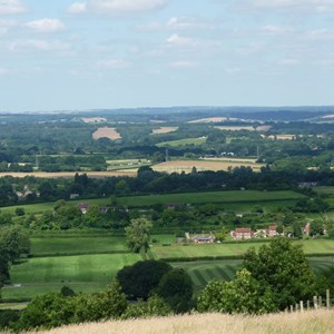 Kingsclere viewed from Cottington Hill