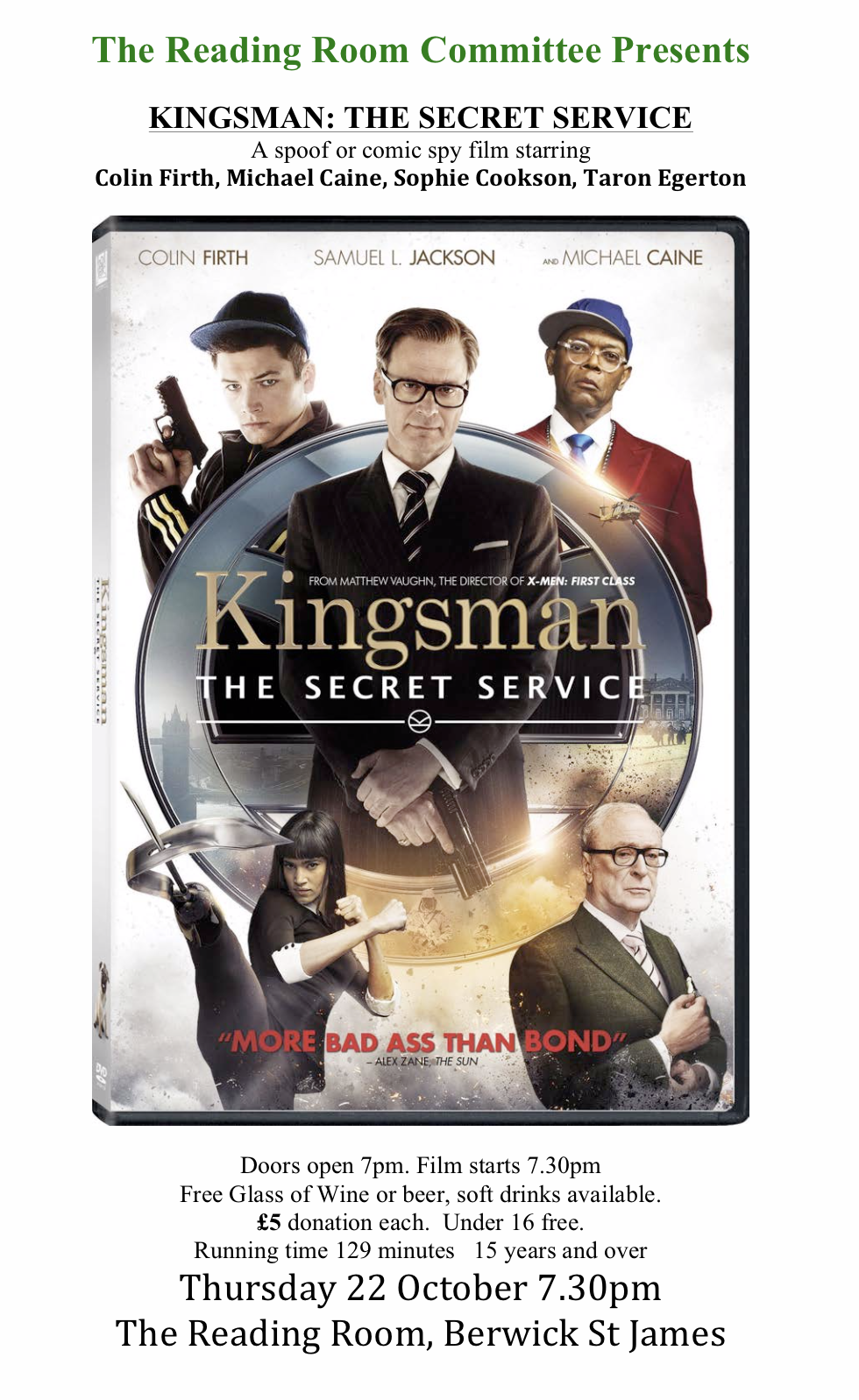 Berwick St James Parish Kingsman - The Secret Service