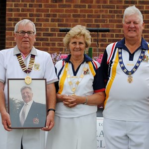 Club president with bowls bedfordshire presidents
