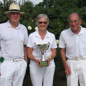 2016 Triple Cup winners. Rod Dale, Carolyn Parker and Peter Martin