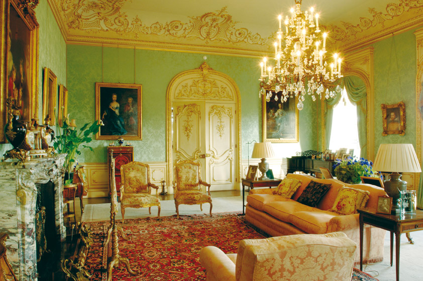 The drawing room at Highclere Castle