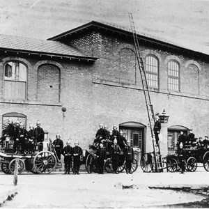 Rear Range in 1908 in use as a fire Station (HRO: HPP5/2/06)