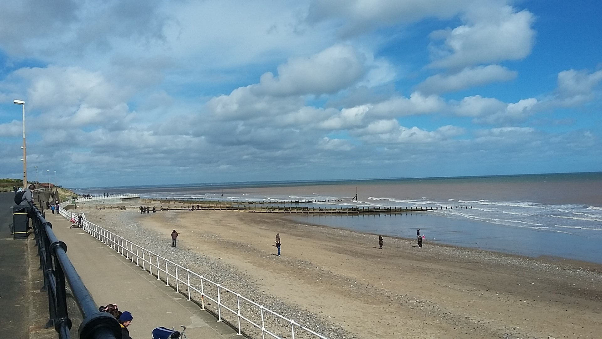 Hornsea Sea Front in April