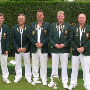 2010 Under 25 County Champion David West & County Fours Champions Clive Graves, Paul Seymour, Don Savage & John McAndrew