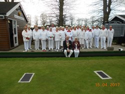 Club Members on Opening Day with Club President Ken & County Ladies President Trudy.