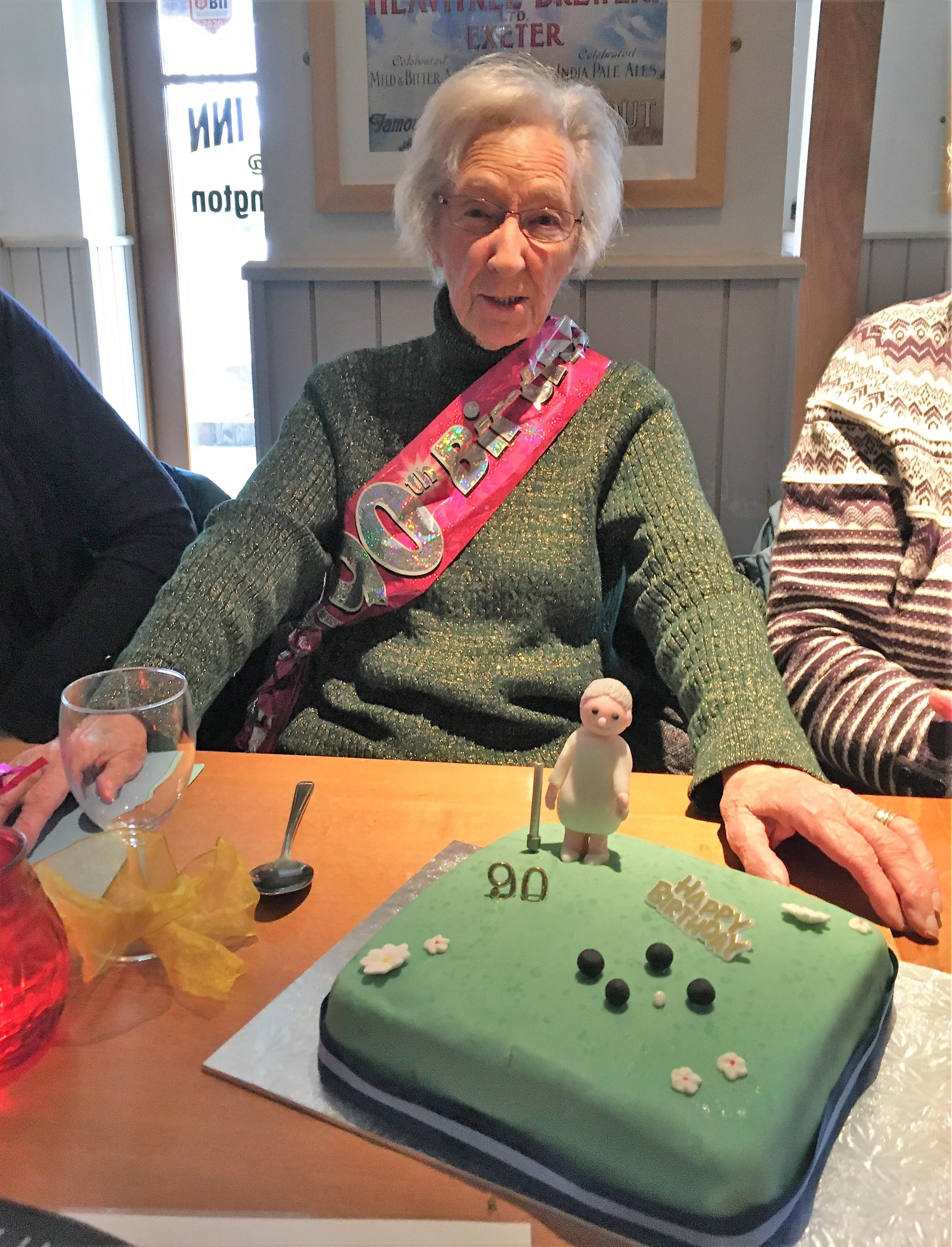 Betty Greenlsade's 90th birthday celebration.