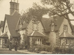 Westfield House c1900 was known as The Cottage. Captain T H C Woolley lived here shortly before he was killed in action in 1916