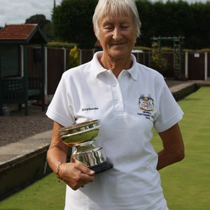 Ladies 4 wood winner Steph Greenwell