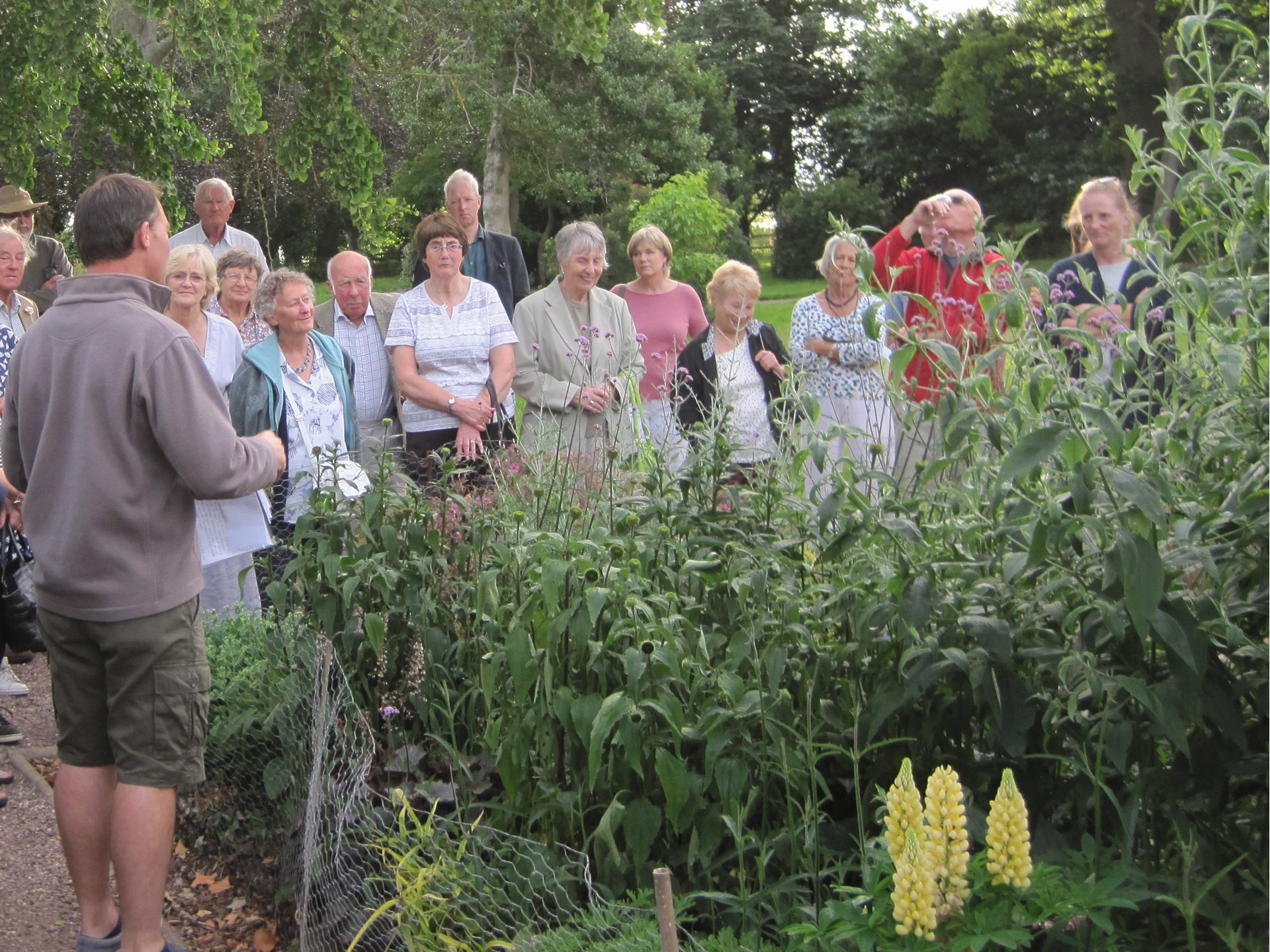 Members  at a guided tour of Nynehead Court