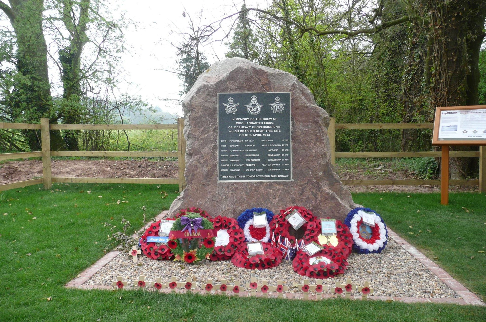 The Lancaster Bomber Memorial, Halam