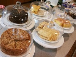 Fresh cakes in the Granary tearoom