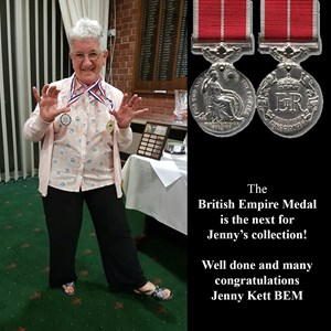 Jenny Kett, who has received the B.E.M.