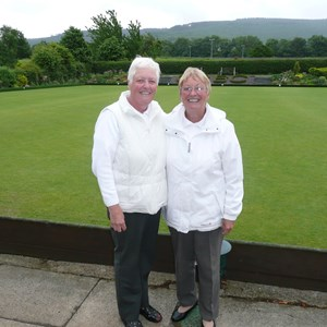 2010 Ladies Pairs Winners Jean Smith and Doreen Forbes