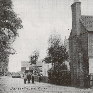 Bleasby Village Fishermans Rest and Court Cottage c 1905