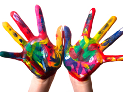 Children's hand painting - Winton Pre-school