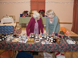 Heather and Mary at the jam stall