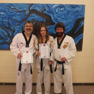 Overton and Basingstoke Taekwondo Black Belts