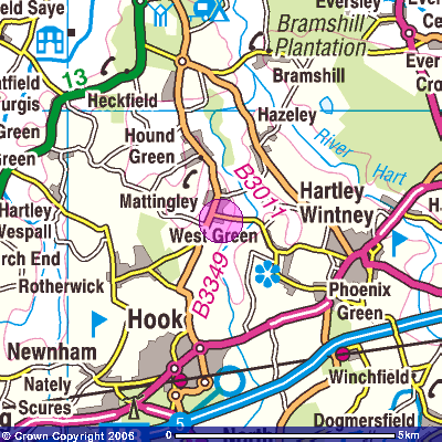 Get-a-map service. Image reproduced with kind permission of Ordnance Survey and Ordnance Survey of Northern Ireland.