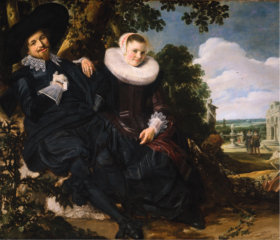 The Wedding Portrait of Isaac Massa & Beatrix Van der Laan by Frans Hals