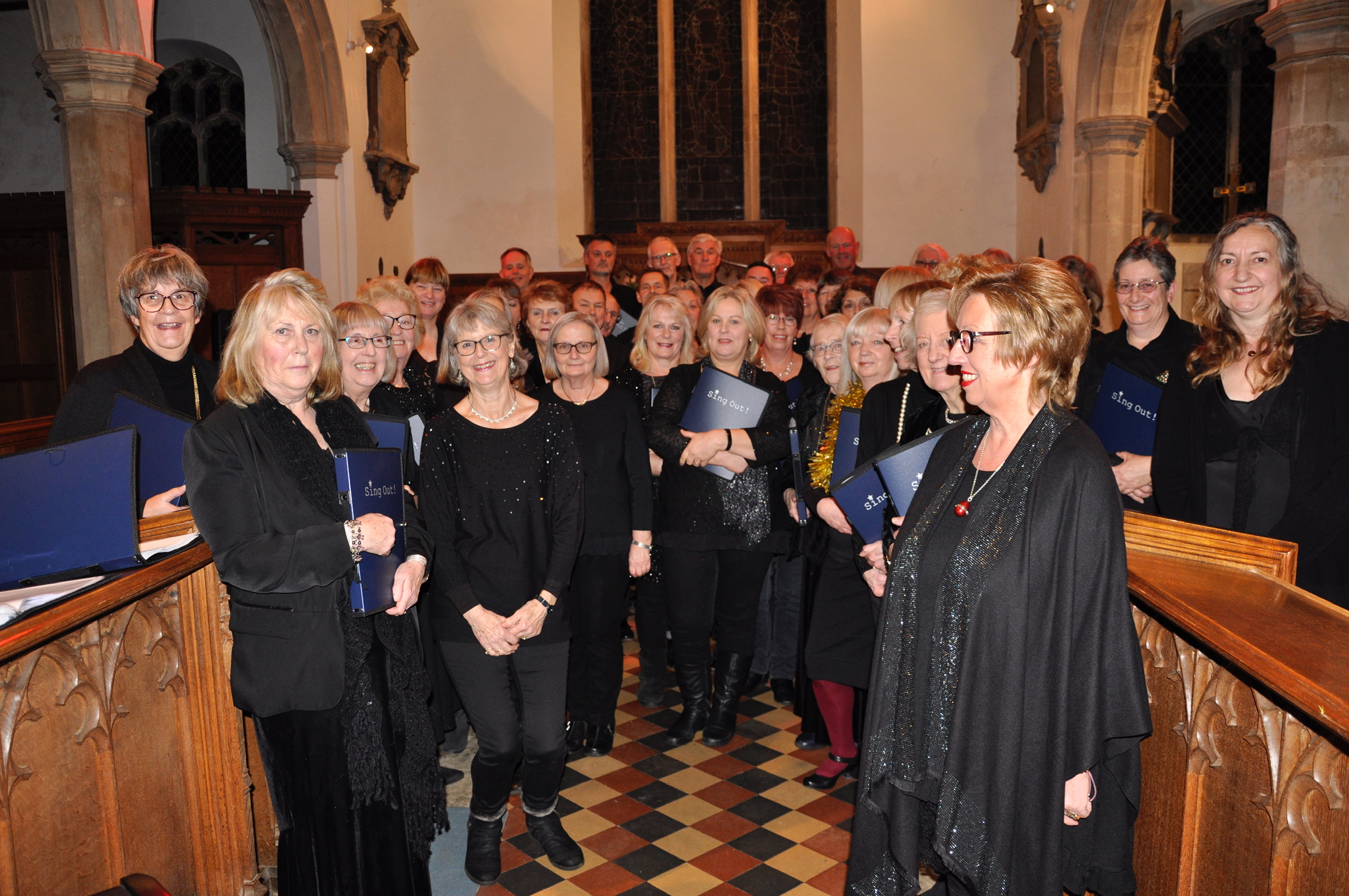Sing Out! Performing at St Peters Yoxford, Dec 2018.