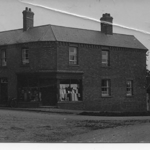 Pegrams shop on corner of Church Lane 1920