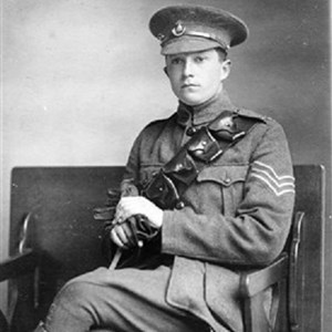 Sgt Harry Sheldon enlisted with the Sherwood Rangers Yeomanry and later transferred to the Sherwood Foresters. Seen here in SRY uniform c 1915