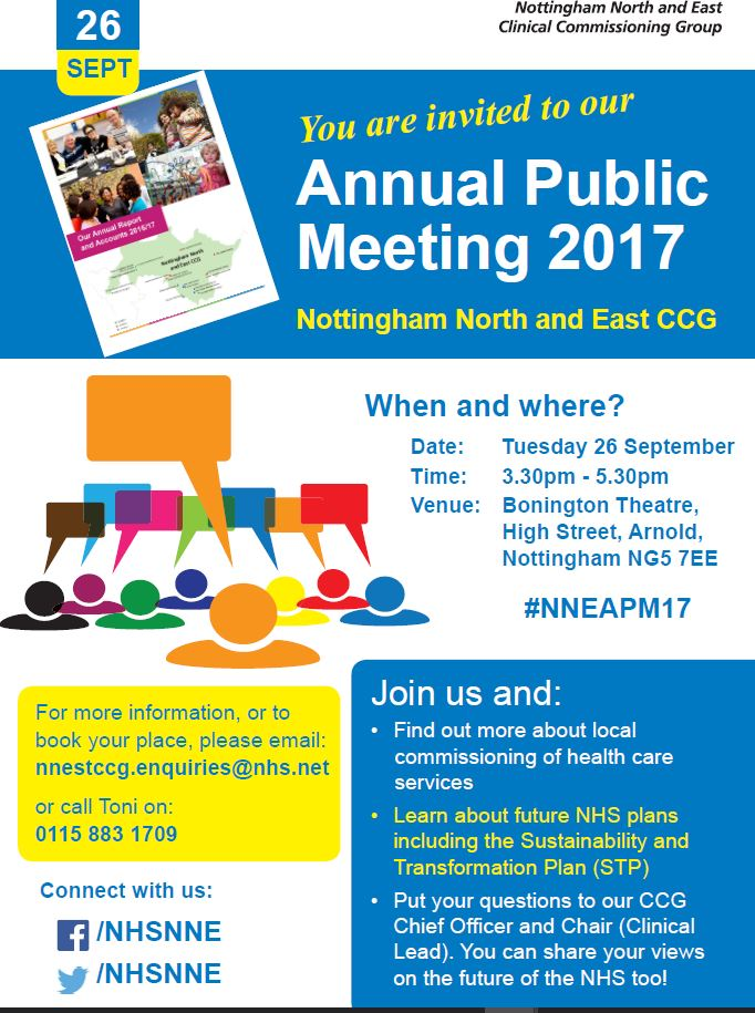 Caythorpe Parish Council Nottm North & East CCG Annual Meeting