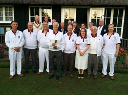 Some of the team playing at Quorn Bowls Club 2015
