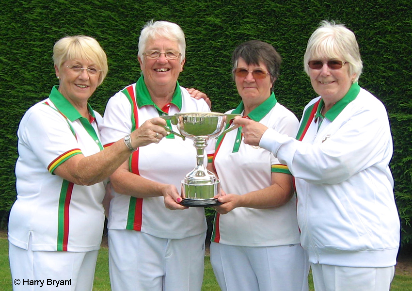 Lockswood  Ladies Fours team, Hampshire Champions 2016