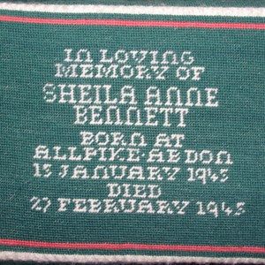 In memory of Sheila Anne Bennett