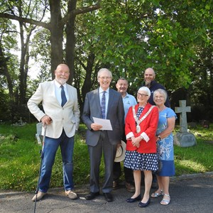 Meeting the Lord Lieutenant at Battle Cemetery