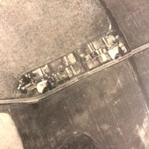 Aerial view of Beehive cottages 1930's