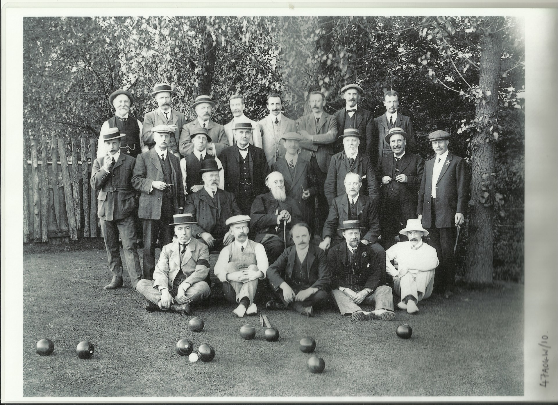 Winchester: The Friary Bowling Club; group portrait C1900