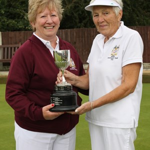 Ladies Pairs winners Jan Pead & Shirley Stanworth-Hall
