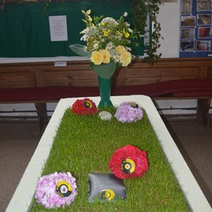 Mere BC Entry in the Flower Festival in the church - 2017