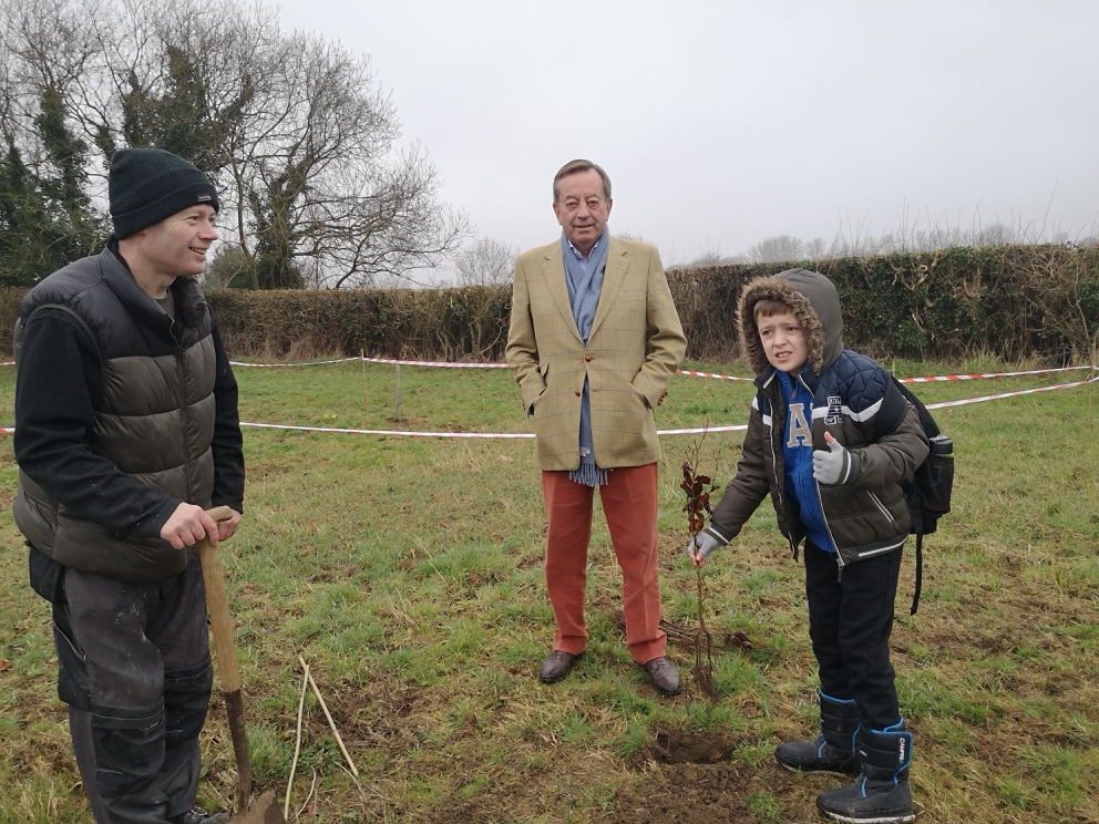 Tree planting day at Campfield Farm
