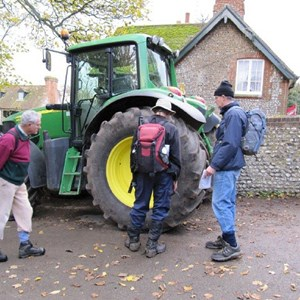 Large Tractor Ox Barn Nr Lavant  7th Nov 2010