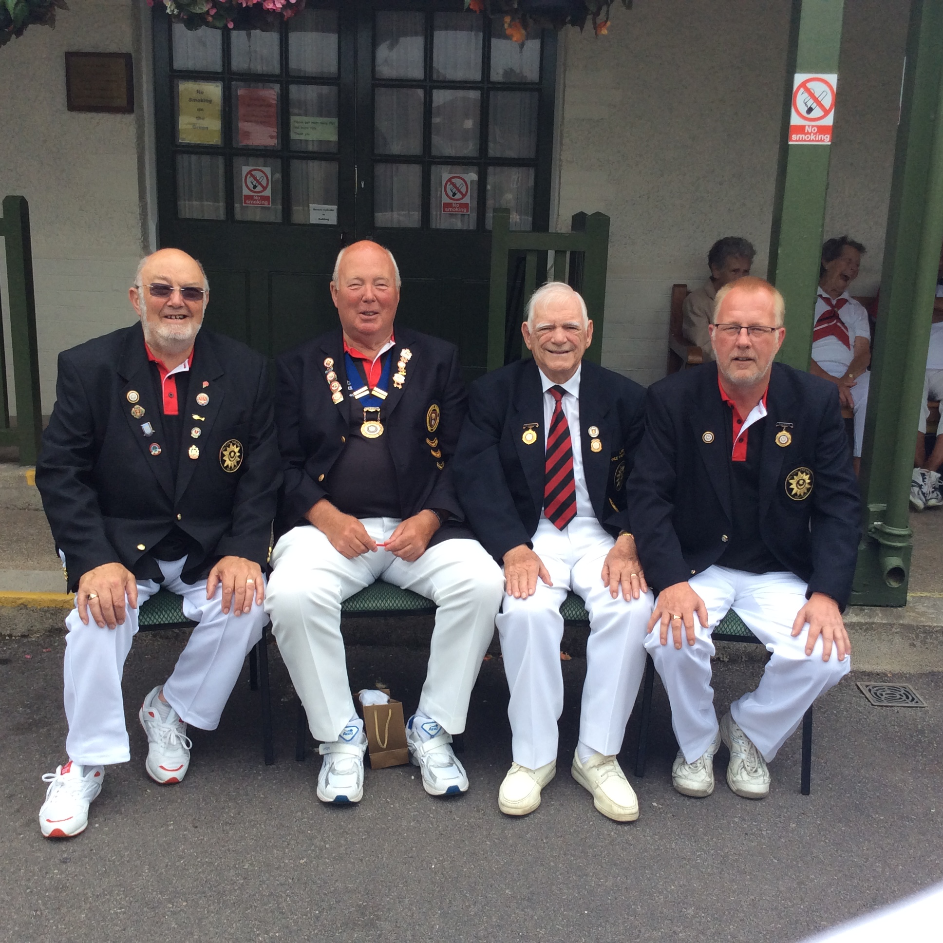 Left to Right Bryan Seymour (Hon. Treasurer) Dave Biggs (President) Dave Nicol (Hon. Secretary) Dave Brown (Captain)