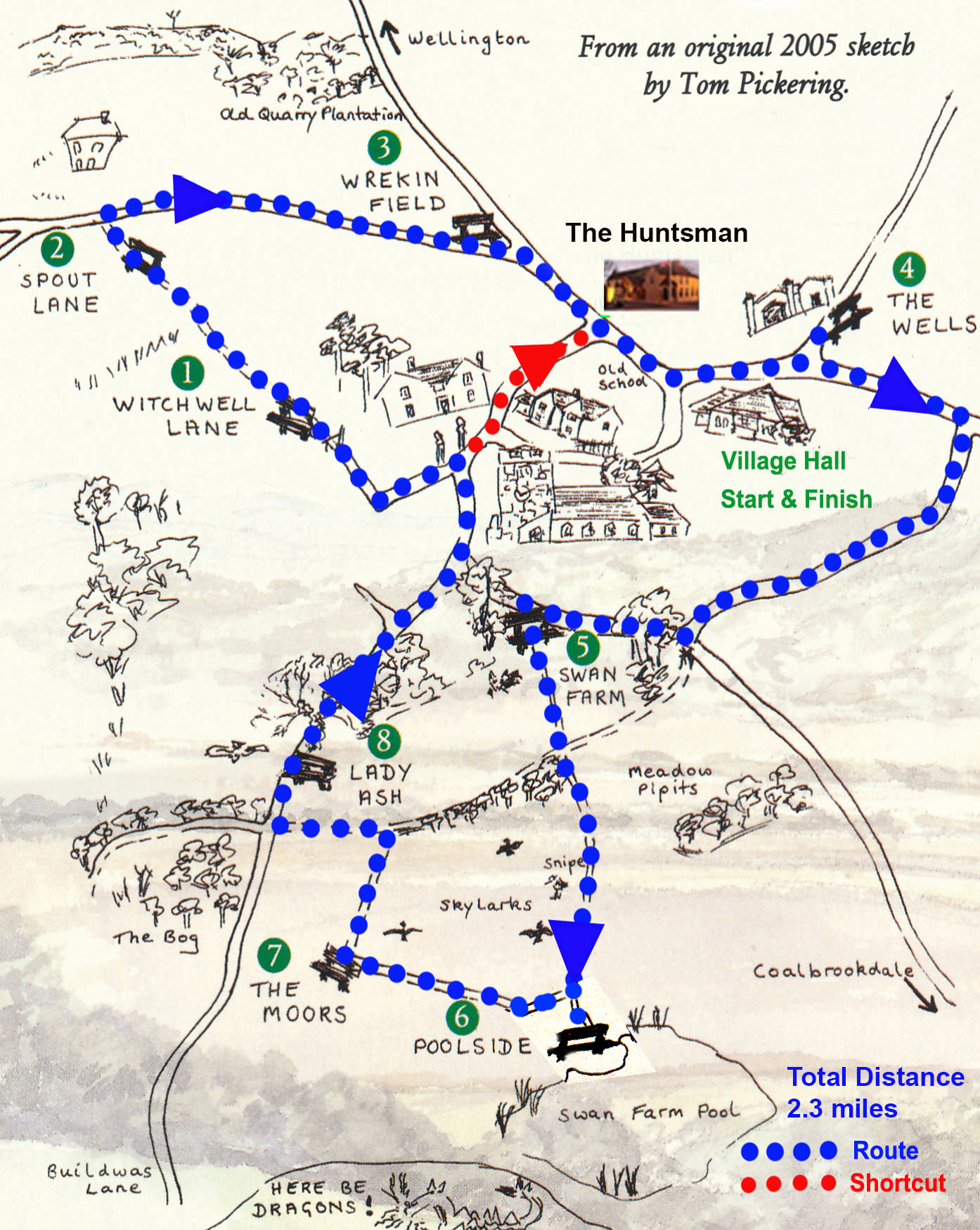 Benchwalks Map, Little Wenlock Parish Council