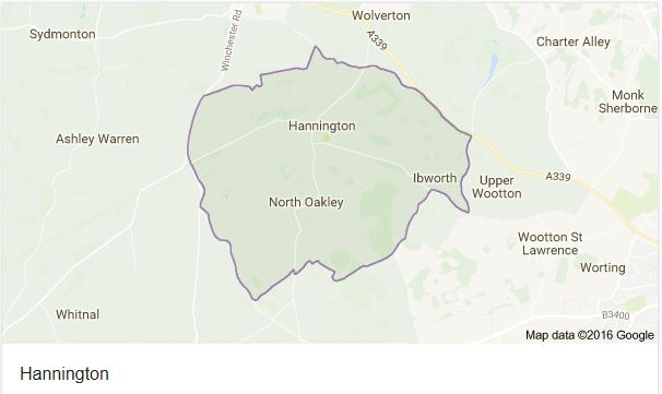 Click to see the Hannington Parish map