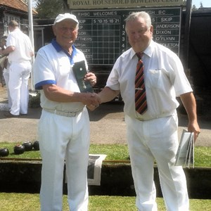 President Alan Stiil and Captain of the Royal Household team May 2016