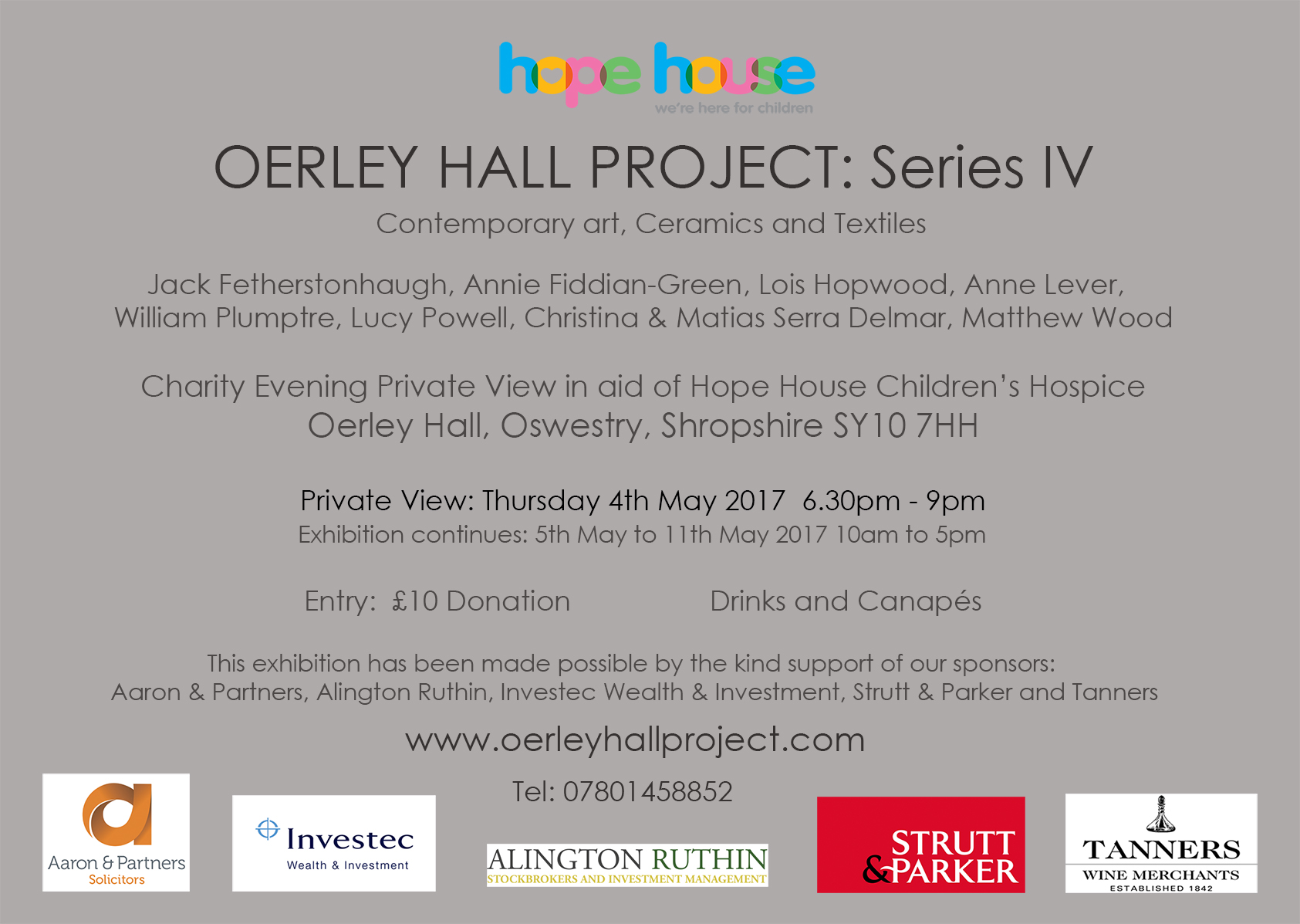 Oerley Hall Project: Series IV Invite Card