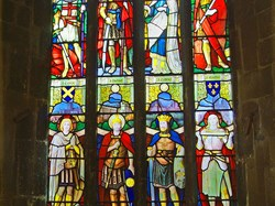 Staineg glass Warm Memorial window, St John the Baptist