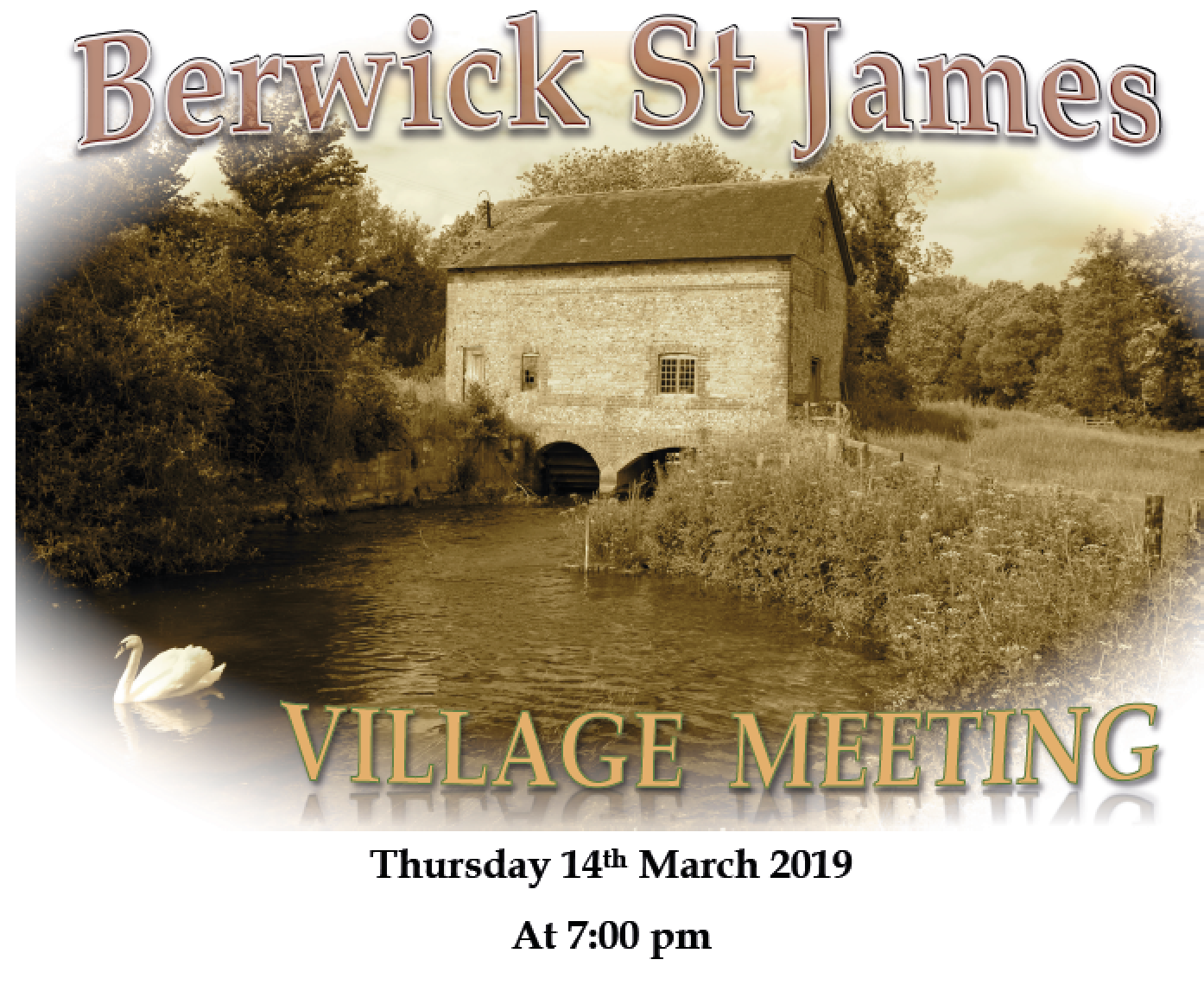 Berwick St James Parish 14th March 2019