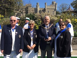 Mayor, President Margaret Goodger & Captains Brian Watson and Sheila Murray