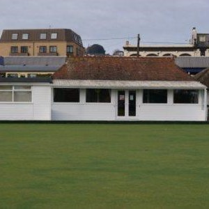 View of the old clubhouse.