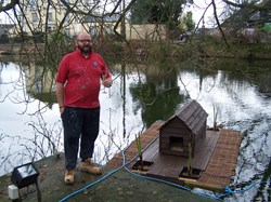 Well done Tony - who constructed the duck house!