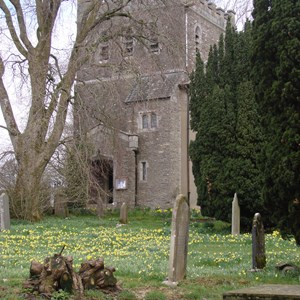 Selside Church tower in Spring