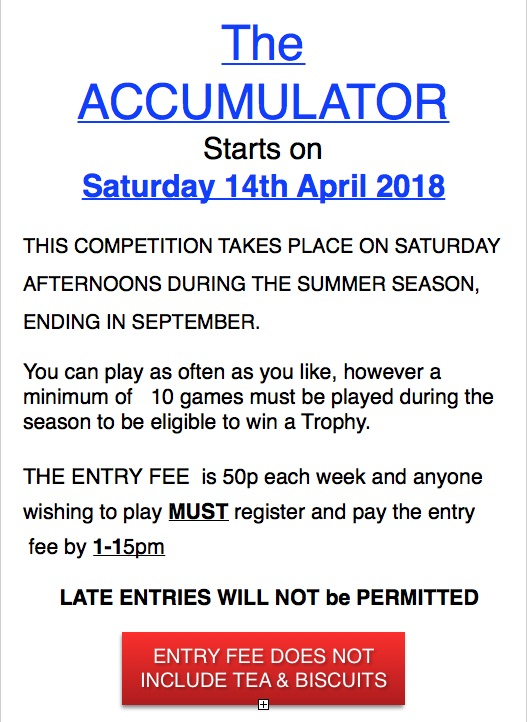 Lockswood Bowling Club Accumulator